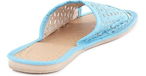LABR12 Donna Scarpe Aperte Pantofole Ladeheid Ciabatte Turchese Zoccoli AHUF18