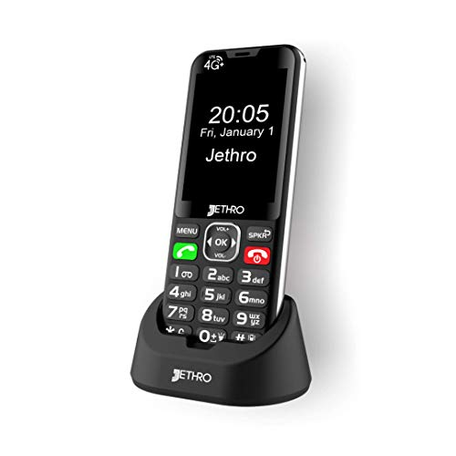 🥇 Jethro [SC490] 4G/LTE Unlocked Bar Style Cell Phone for Seniors & Kids