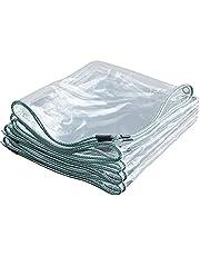 Zeildoek Waterdichte Transparante - Home Garden Outdoor PVC Plastic Tarp Sheet Cover met oogjes - Premium Quality Cover Gemaakt van 400gsm dekzeil - 0,3mm dik (2x3m)