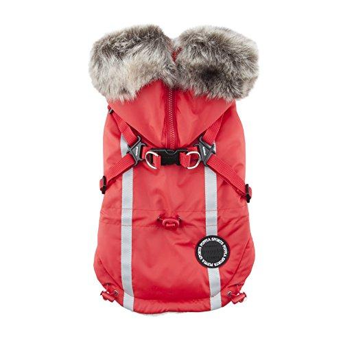 Puppia Clark Winter Fleece Vest, Medium, Red by Puppia (Image #5)