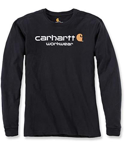 Carhartt s Logo Manches Maddock T Noir L Longues shirt Core rqrFxYP