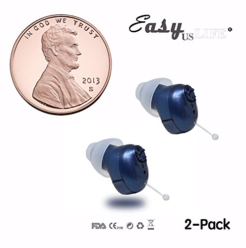 Super Mini,Dark Blue,in-The-Canal (ITC),2-Pack New Digital Hearing Amplifier, Clearly Technology, Interchangeable, Suitable for Men and Women, Trademark: Easyuslife by EASYUSLIFE (Image #9)