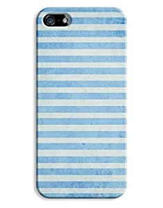 Grungy Blue Sripes Case for your iPhone 5/5S