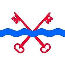 magFlags Bandera Large Leiderdorp vlag | Gemeente Leiderdorp, Zuid-Holland | bandera paisaje | 1.35m² | 90x150cm