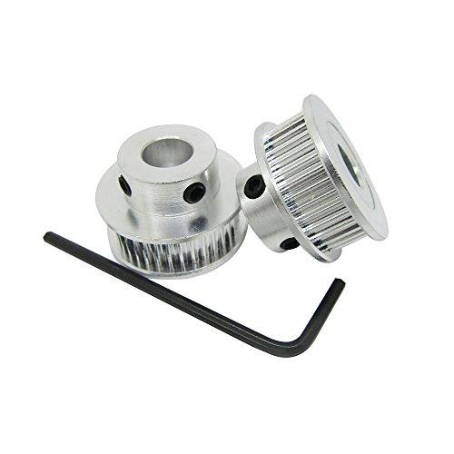 Orish Alumium GT2 40 Teeth Timing Pulley 8mm Bore Synchronous Drive Belt Wheel for 6mm Width Belt