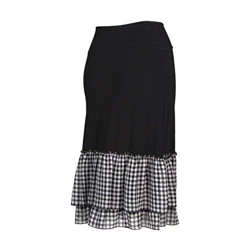 Peekaboo-Chic Cottage Check Half Slip Skirt Extender (Black, l/XL) by Peekaboo-Chic (Image #2)