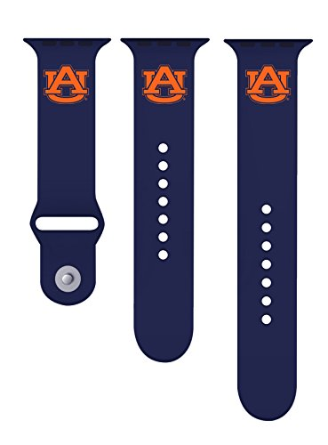 (Auburn Tigers 42mm Silicone Sport Band fits Apple Watch - BAND ONLY)