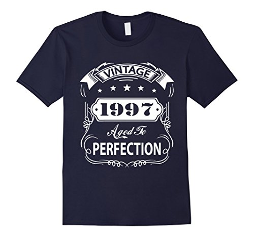 Mens 20th Birthday T-Shirt Vintage Made in 1997 Gift ideas Guys Small Navy