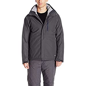 White Sierra Men's Trifecta Jacket, Asphalt, Large
