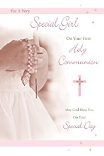 Girls Especially On Your First Holy Communion Card Rosary Beads