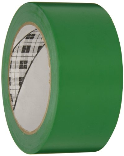 3M General Purpose Vinyl Tape 764 Green, 2 in x 36 yd 5.0 mil (Pack of 1) ()