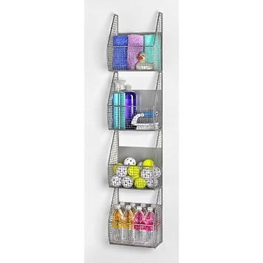 11  x 53  4 Basket Vertical Storage Rack Color: Pewter