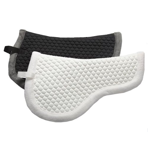 Elico Orkney fleeced lined half Saddle Pad (choose from colours black or white) - full lined to keep moisture levels down - one size William Hunter Equestrian