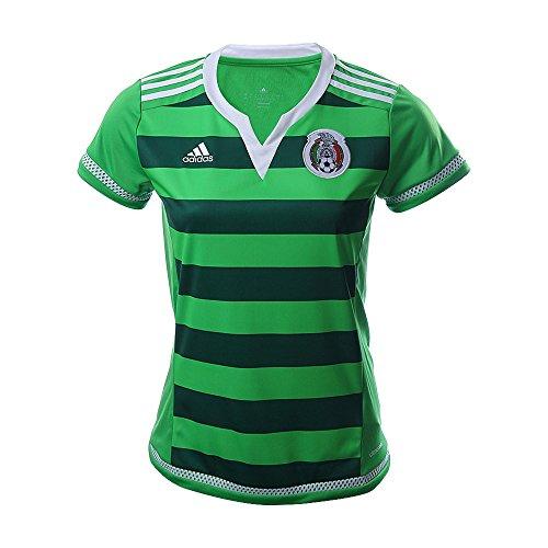 adidas Women Soccer Mexico Home Jersey, Intense Green/Dark (Mexico Home Jersey)