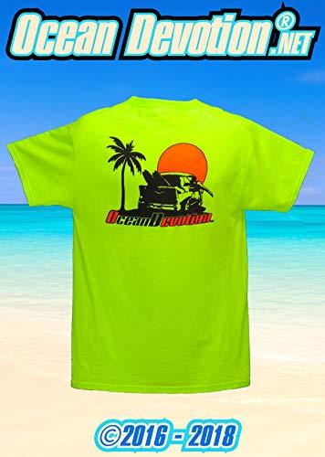 57 Chevy - Ocean Devotion - Neon Green (Lime) - Men's Medium TShirt - Keywords. Surfing, Fishing, Guy Harvey, Salt Life, Reel Life, Beach Life, Paddle Boarding, Offshore