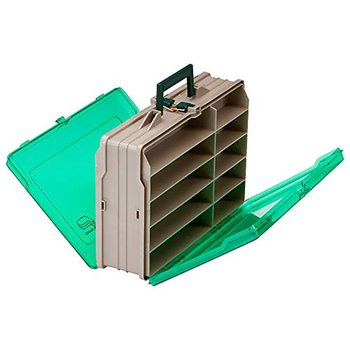 Plano Double-Sided 19-Compartment Satchel - Sandstone & Green ()