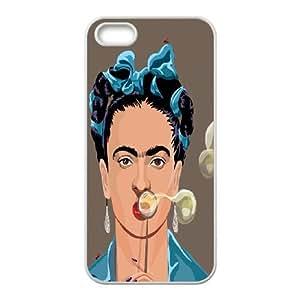 LSQDIY(R) Frida iPhone 5,5G,5S Plastic Case, Personalised iPhone 5,5G,5S Case Frida