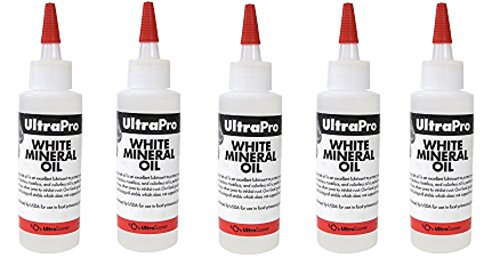 4 oz - Food Grade Mineral Oil for Stainless Steel, Cutting Boards and Butcher Blocks, NSF (5-Pack)