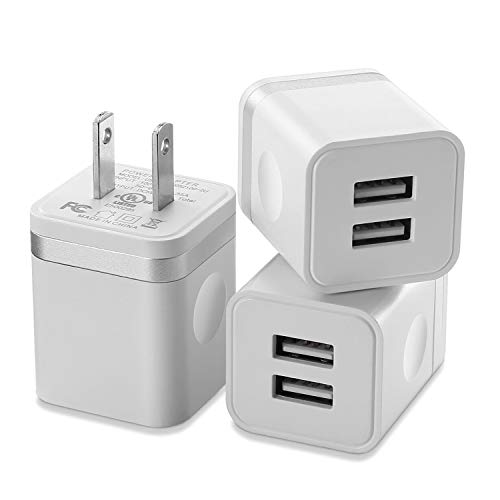 X-EDITION USB Wall Charger, 3-Pack 2.1Amp Dual Port USB Plug Power Charger Adapter Charging Block Compatible with Phone Xs Max/Xs/XR/X/8/7/6S/6 Plus, Pad, Samsung, LG, HTC, Google, Moto, and More