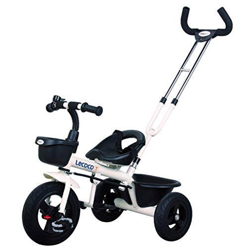 HYCy Children's Bicycle Folding Cart 1-6 Years Old, Baby Stroller, Removable Push Rod