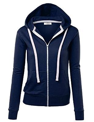 LL Womens Premium Active Soft Zip Up Fleece Hoodie Sweater Jacket