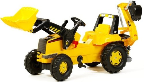 - Caterpillar Pedal Tractor with Front Loader and Backhoe