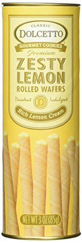 (Dolcetto Zesty Lemon Rolled Wafers)
