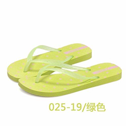LIUXINDA-XZ Liuxinda - Zapatillas de Verano para Mujer, Zapatillas de Verano, Zapatillas de plástico, Zapatillas de Fondo Grueso, Zapatillas de Playa de Moda, Flips, Azul, 3.5 UK verde