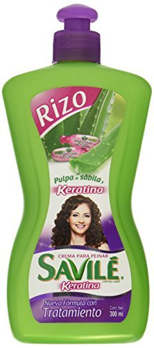 Amazon.com : Savile Crema Para Peinar Pulpa De Savila Y KERATINA (RIZO) 300ml by Savile : Beauty