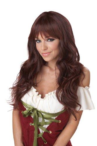 Brunette Wigs (California Costumes Women's Eye Candy - Coquette Wig, Brunette, One Size)