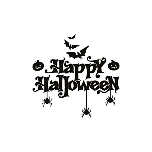 Halloween Decorations Youtube (BIEARY Wall Sticker Happy Halloween Bats Spider Window Home Decoration)