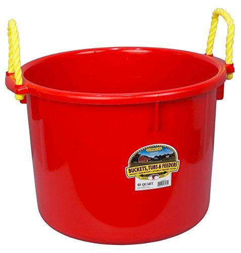 Little Giant Muck Tub, 40-Quart, Red