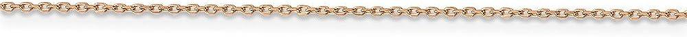 14K Rose Gold 1.0 MM Cable Anklet Bracelet 10
