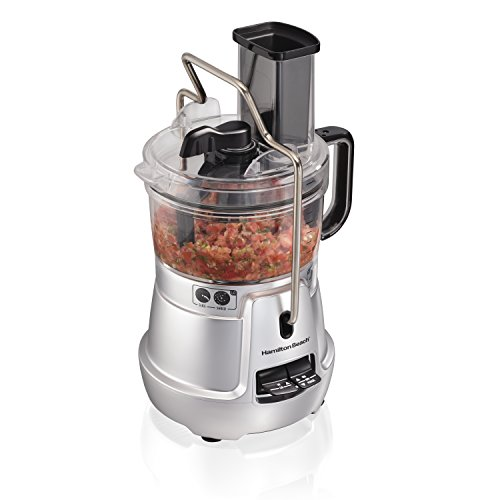 (Hamilton Beach Stack & Snap Food Processor 8-Cup with Adjustable Slicing Blade, Built-in Bowl Scraper & Storage Case (70820))