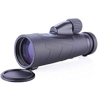 Yooeur 12X50 Monocular Telescope-Compact Short-range Spotting Scope-Waterproof Fog Dust proof- Single Hand Focus -Lifetime Warranty from Yooeur