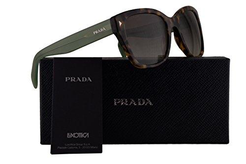 Prada PR09SS Sunglasses Spotted Brown Green w/Green Gradient 54mm Lens UEZ4K1 SPR09SS PR 09SS SPR - Prada Wayfarer