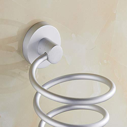 da Parete Asciugacapelli Scaffale Alluminio Contenitore Deposito Mensola Organizer per Bagno Albergo Queenback Asciugacapelli Sostegno