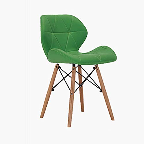 Green Home Modern Casual Restaurant Chair Simple Leather Chair Computer Chair Home Back Chair Bar Chair (color   bluee)