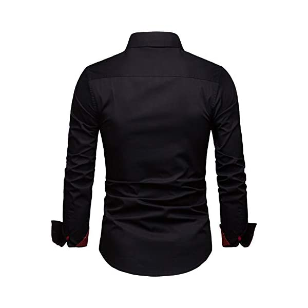 Manwan walk Mens Dress Shirts Regular Fit Button Down Long Sleeve Men Casual Shirt