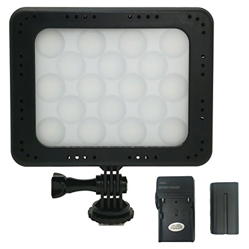 ANDYCINE 5 Inch On Camera Video Led Light 18 Bulbs 5700K White&RGB Studio Led light With White Brightness Adjustable 300 different color (AC-18LED) by ANDYCINE