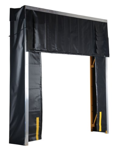 Vestil-D-520-24-Retractable-Dock-Shelter-132-Width-132-Height-24-Projection-Black