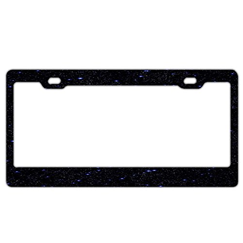 All Stars Galaxy License Plate Frame, Car Licenses Plate Covers For Both Front And Back License Tag Stainless Steel Metal License Plate Frame Humor (Texas All Star Stainless Steel)