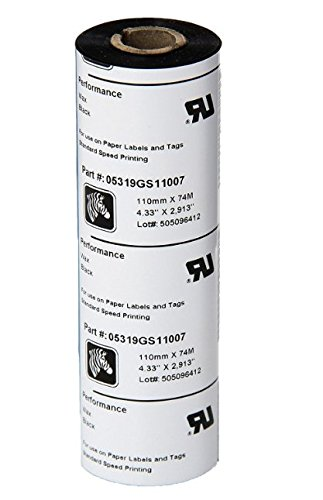 Zebra 5319 Performance Wax-Resin Ribbon (Case of 12 Rolls) ()