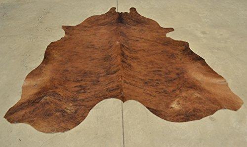Cowhide Rug Skin Leather Area Hair on Carpet Medium Brindle 60