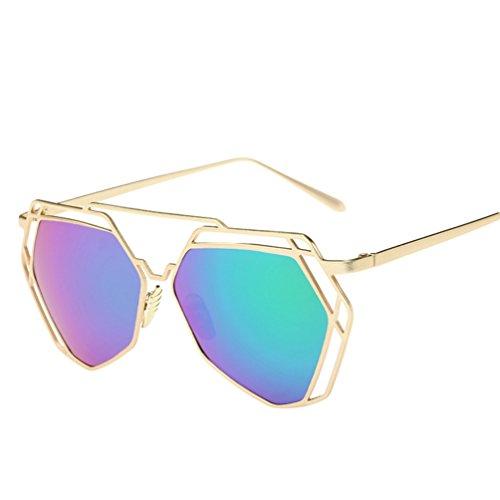 Soleil Chat Polarisées De Classique Lunettes Verres Sunglasses Metallique  De Femme Vert Mode Vue YAANCUN Lunette ... 26e33e292065
