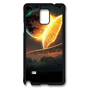 Samsung Galaxy Note 4 Case, Note 4 Cases - Earth And Moon Best Protective TPU Soft Rubber Bumper Case Cover for Samsung Galaxy Note 4 N9100 Black