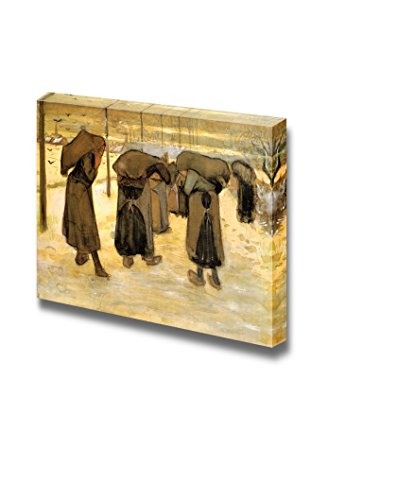 Miners Wives Carrying Sacks of Coal by Vincent Van Gogh Print Famous Painting Reproduction