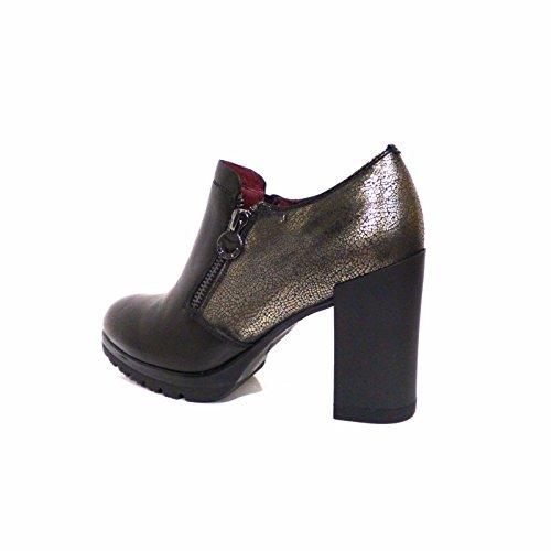 noire en chaussures 109403 zip cuir Nero talon stub femme STONEFLY vSaUfqU