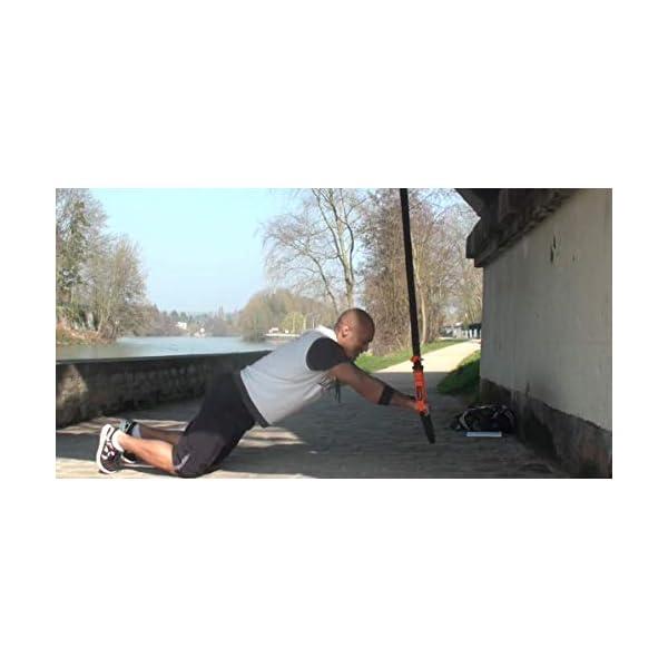 Furious Fitness Sangles de Suspension – Bandes d'entrainement en Intérieur – Montage sur Porte, Barre de Traction, Mur – Équipement Mobile Musculation Full-Body – Mousqueton Robuste Capacité 450kg accessoires de fitness [tag]