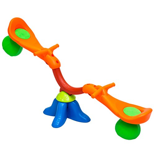 (Best Choice Products Kids Toddler 360 Degree Swivel Seesaw Bouncer Teeter Totter (Multicolor))